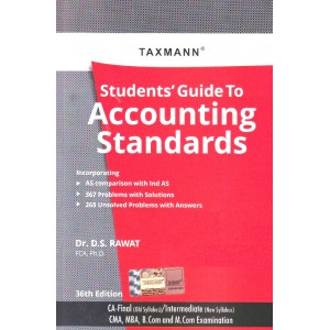 Taxmann's Students Guide to Accounting Standards for CA Final [Old Syllabus] & CA Inter [New Syllabus] May/June 2020 Exam by D. S. Rawat