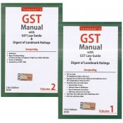 Taxmann's GST Manual with GST Law Guide & Digest of Landmark Rulings 2020 (Set of 2 volumes)