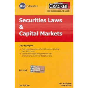 Taxmann's Cracker on Securities Laws & Capital Markets for CS Executive June 2020 Exam (New Syllabus) by N. S. Zad