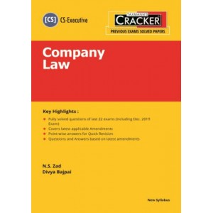 Taxmann's Cracker on Company Law for CS Executive December 2020 Exam [New Syllabus] by N. S. Zad