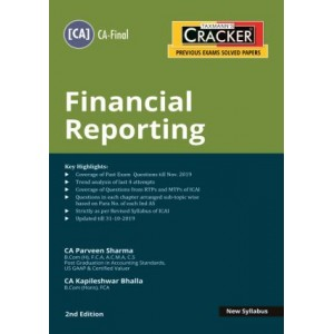 Taxmann's Cracker on Financial Reporting for CA Final November 2020 Exam [New Syllabus] by CA. Praveen Sharma, CA. Kapileshwar Bhalla