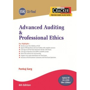 Taxmann's Cracker on Advanced Auditing & Professional Ethics for CA Final November 2020 Exam [New Syllabus] by CA. Pankaj Garg