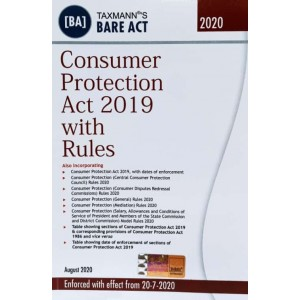Taxmann's Bare Act on Consumer Protection Act 2019 with Rules [Edn. 2020]