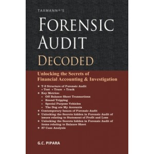 Taxmann's Forensic Audit Decoded by G. C. Pipara