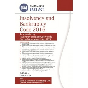 Taxmann's Bare Act on Insolvency & Bankruptcy Code 2016