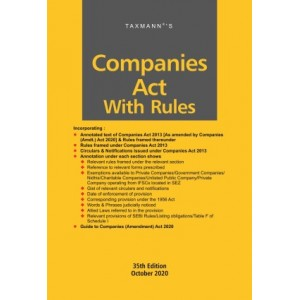 Taxmann's Companies Act with Rules (HardBound Pocket Edition)