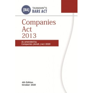 Taxmann's Bare Act on Companies Act, 2013 [Pocket]