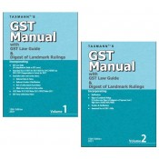 Taxmann's GST Manual with GST Law Guide & Digest of Landmark Rulings 2021 (Set of 2 volumes)