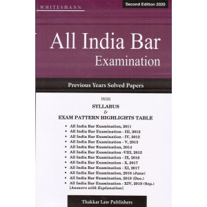 Thakkar's All India Bar Examination (AIBE) with Previous Years Solved Papers [2020 Edition]