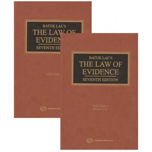 Batuklal's Law of Evidence by Thomson Reuters [2 HB Vols.]