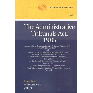 Thomson Reuters The Administrative Tribunals Act 1985 [Bare Acts with Comment]