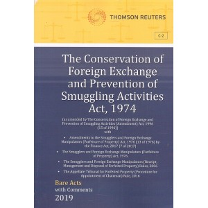 Thomson Reuters The Conservation of Foreign Exchange and Prevention of Smuggling Activities Act, 1974 [Bare Acts with Comment]