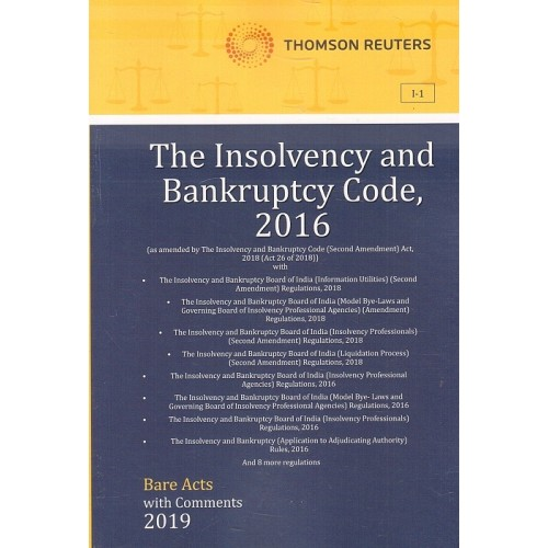 Thomson Reuters The Insolvency and Bankruptcy Code, 2016 [Bare Acts with Comments]