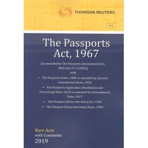 Thomson Reuters The Passports Act, 1967 [Bare Acts with Comment]