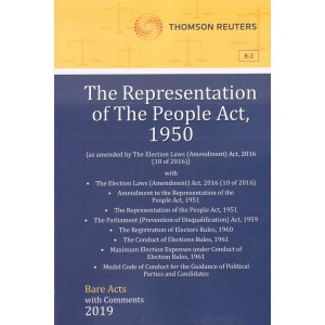 Thomson Reuters The Representation of the People Act, 1950 [Bare Acts with Comment]