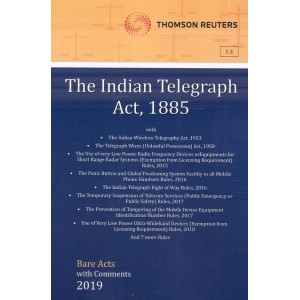 Thomson Reuters The Indian Telegraph Act, 1885 [Bare Acts with Comment]
