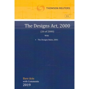 Thomson Reuters The Designs Act, 2000 [Bare Acts with Comments]