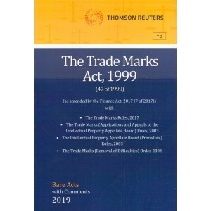 Thomson Reuters The Trade Marks Act, 1999 [Bare Acts with Comment]