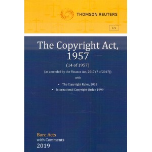 Thomson Reuters The Copyright Act, 1957 [Bare Acts with Comments]
