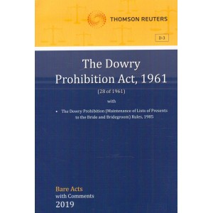 Thomson Reuters The Dowry Prohibition Act, 1961 [Bare Acts with Comment]
