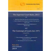 Thomson Reuters The Supreme Court Rules, 2013 & The Contempt of Courts Act, 1971 [Bare Acts with Comments]