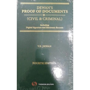 Dewan's Proof of Documents (Civil and Criminal) Including Digital Signature and Electronic Records by Thomson Reuters