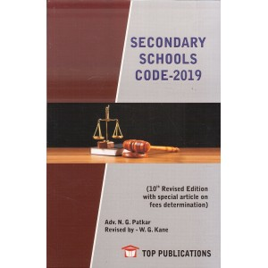 Top Publication's Secondary School Code 2019 by Adv. N. G. Patkar, W. G. Kane | S. S. Code