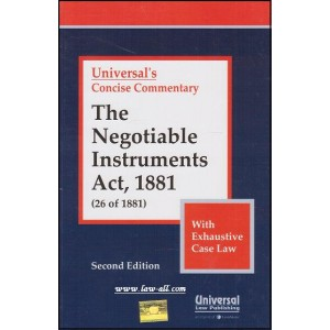 Universal's Concise Commentary on Negotiable Instruments Act 1881
