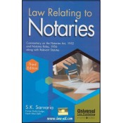 Universal's Law Relating to Notaries [HB] by S. K. Sarvaria