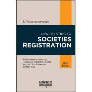 Universal's Law relating to Societies Registration [HB] by S. Parameswaran