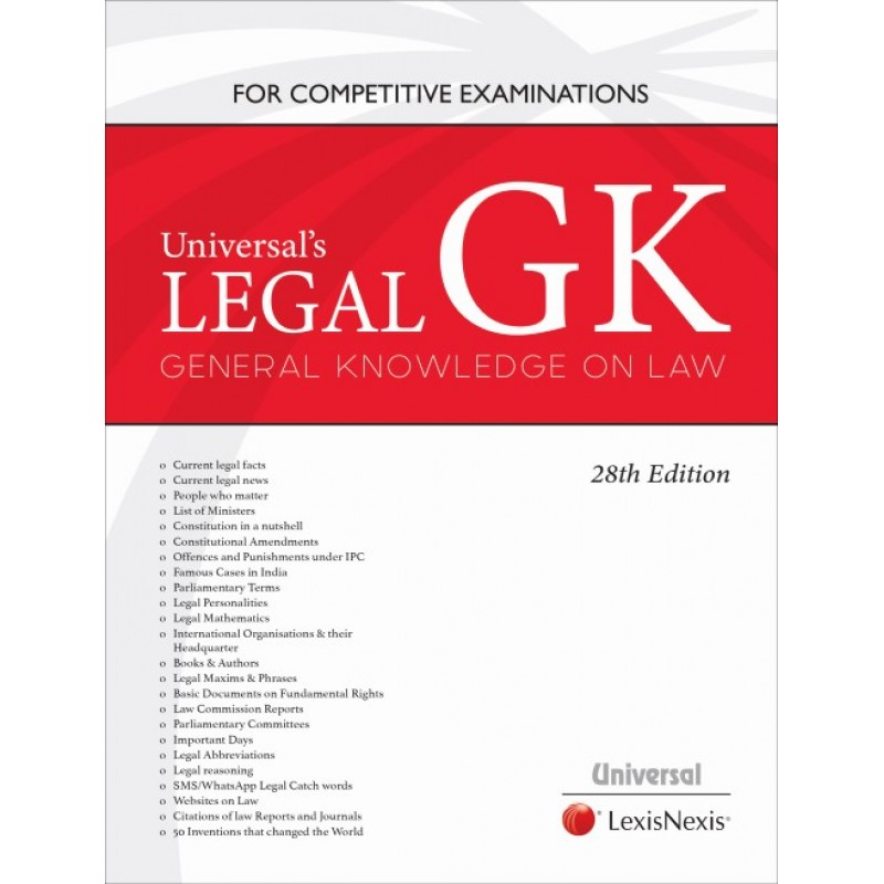 Universal's Legal GK for Competitive Examinations 2019 by