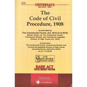 Universal's The Code of Civil Procedure 1908 [CPC] Bare Act