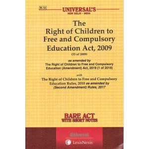 Universal's The Right of Children to Free and Compulsory Education Act, 2009 Bare Act