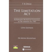 T. R. Desai's The Limitation Act [HB] by Dr. Medha Kolhatkar | Universal Law Publishing