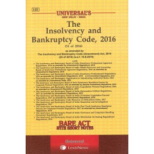 Universal's Bare Act on The Insolvency & Bankruptcy Code, 2016