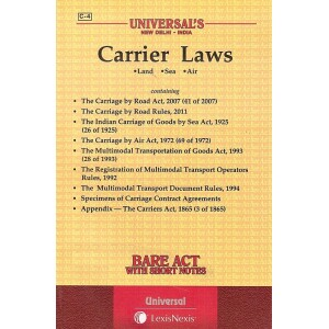Universal's Carriers Laws (Land, Sea, Air) Bare Act
