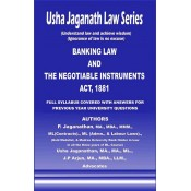 Usha Jaganath Law Series's Banking Law and The Negotiable Instruments Act, 1881 for LLB / BL by P. Jaganathan