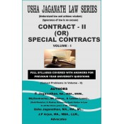 Usha Jaganath Law Series's Contract II or Special Contracts [Volume I] for LLB / BL by P. Jaganathan