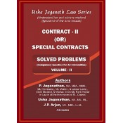 Usha Jaganath Law Series's Contract II or Special Contracts [Volume II : Solved Problems] for LLB / BL by P. Jaganathan