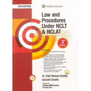 Wolters Kluwer's Law and Procedures Under NCLT and NCLAT By Dr. Vidhi Madaan Chadda, Saurabh Chadda