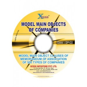 Model Main Objects of Companies Model Main Object clauses of Memorandum of Association of 500 Types of Companies.