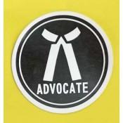 Advocates Sticker for Car, Bike & Office etc [Big]