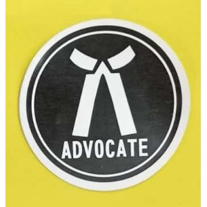 Advocates Sticker for Car, Bike & Office etc [Big]