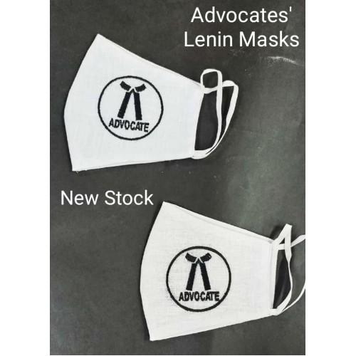Advocates Masks (Embroidery on Fine Lenin Cloth - White)