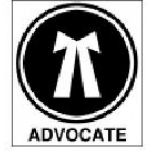 "Advocates Sticker [2"" English] for Car, Bike, Office etc"