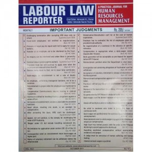 Labour Law Reporter [LLR] with free HRD & Labour Referencer
