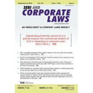 Taxmann's SEBI & Corporate Laws (A Fortnightly Journal) 2020