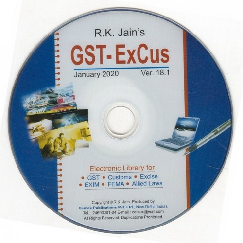 Centax Publication's Ex-Cus GST Library by R. K. Jain (Renewal for Year 2020 - Sub No. is must !!)