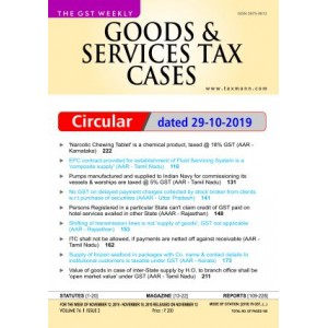 Taxmann's Good & Services Tax (GST) Cases - A Weekly Periodical Journal (Annual Subscription) 2020