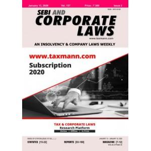 Taxmann's SEBI & Corporate Laws (A Fortnightly Journal) 2021